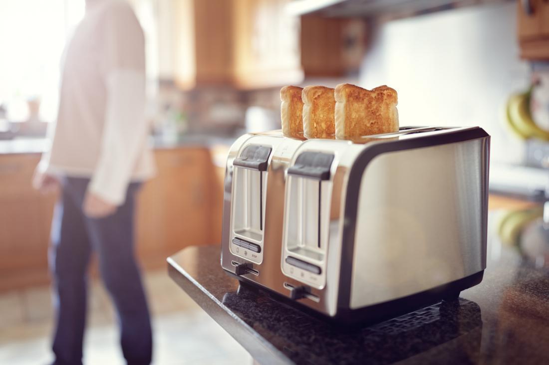bánh mì nướng là một cách dễ tiêu hóa thức ăn
