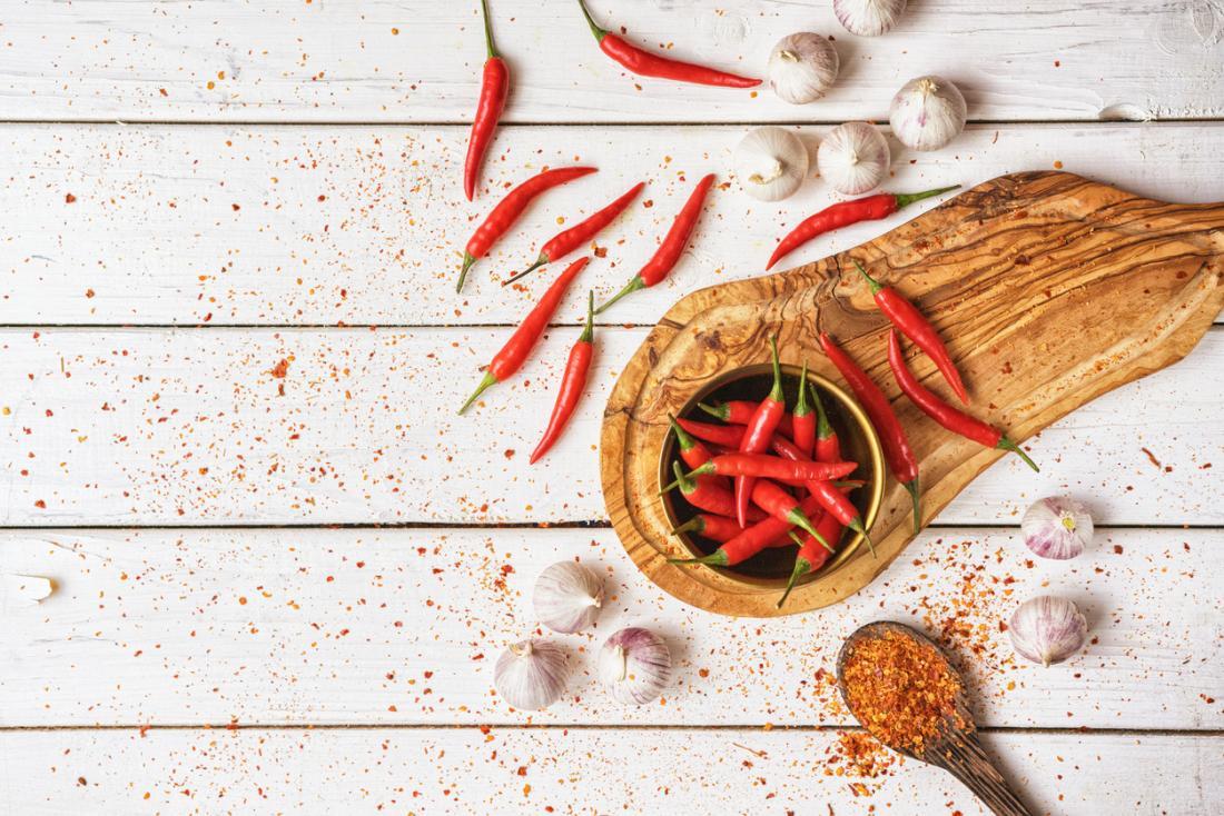 ớt và tỏi không dễ tiêu hóa thức ăn