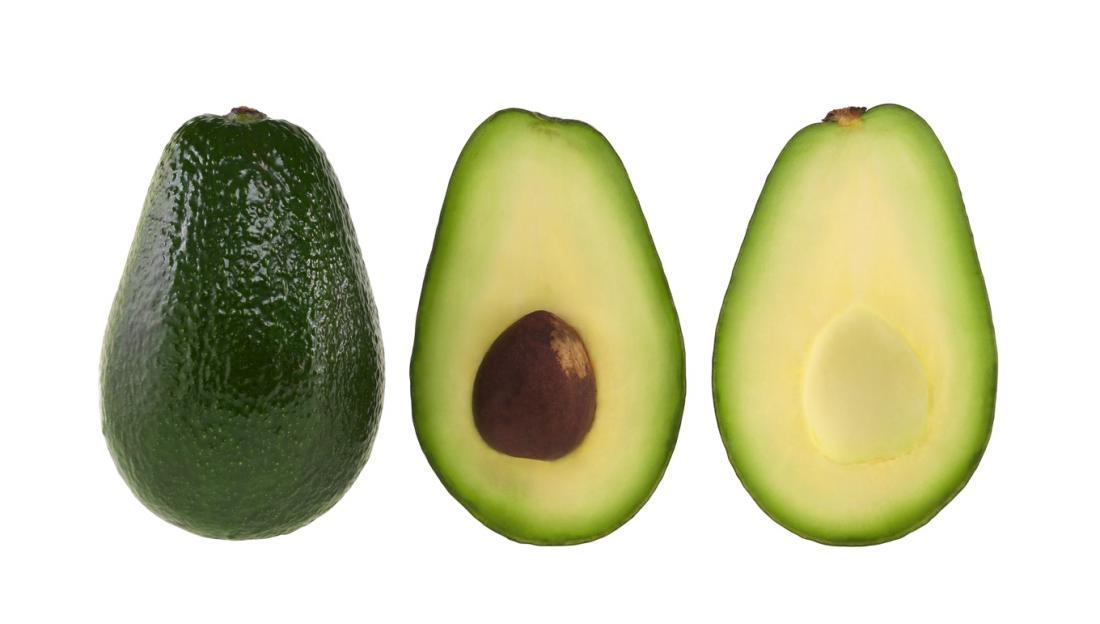 Авокадо с камъни и дело