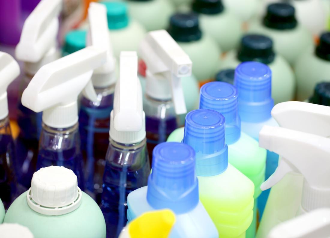 Produits de nettoyage.