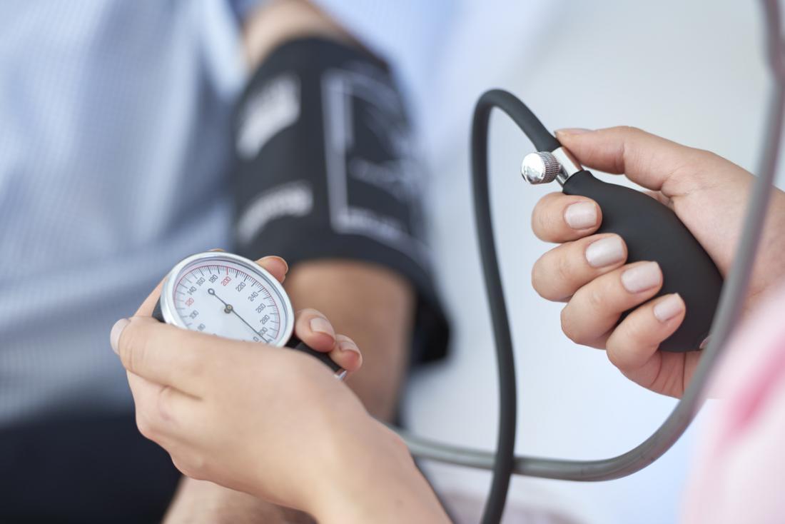 Test ciśnienia krwi.