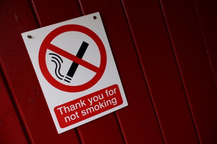 Un signe non fumeur.