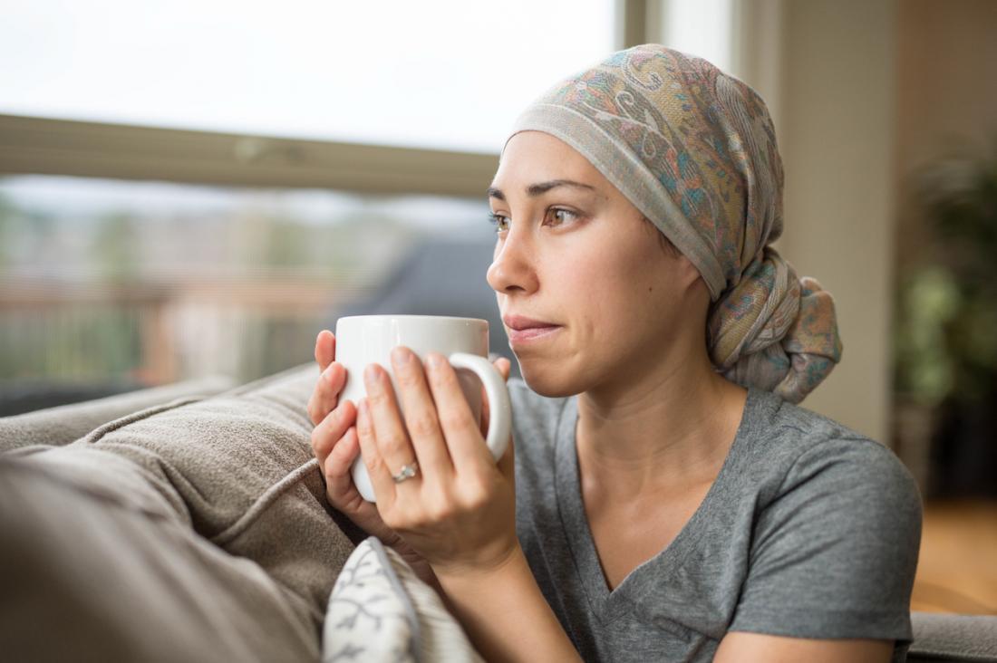 Weiblicher Krebspatient.