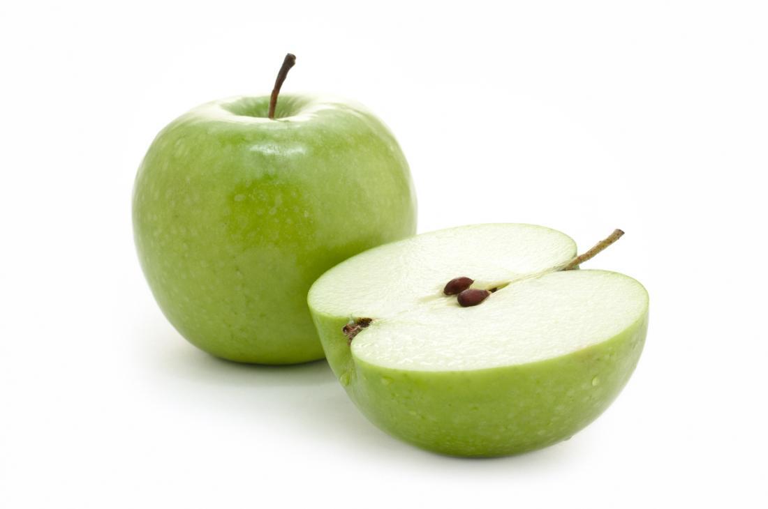 Zielone jabłko.