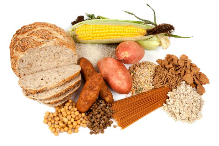 carboidratos complexos, como pão, legumes, batata doce