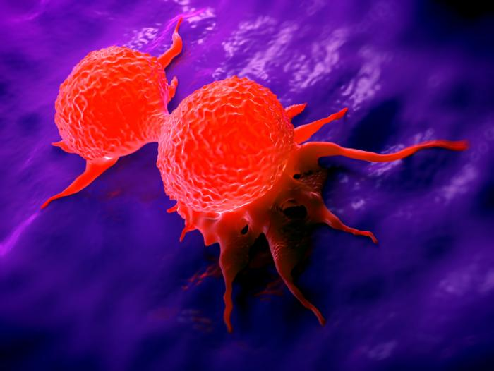 Разделяне на клетки от рак на гърдата
