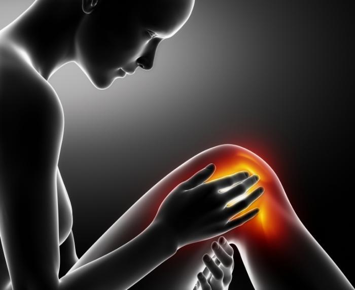 Một hình ảnh của một người bị đau đầu gối.