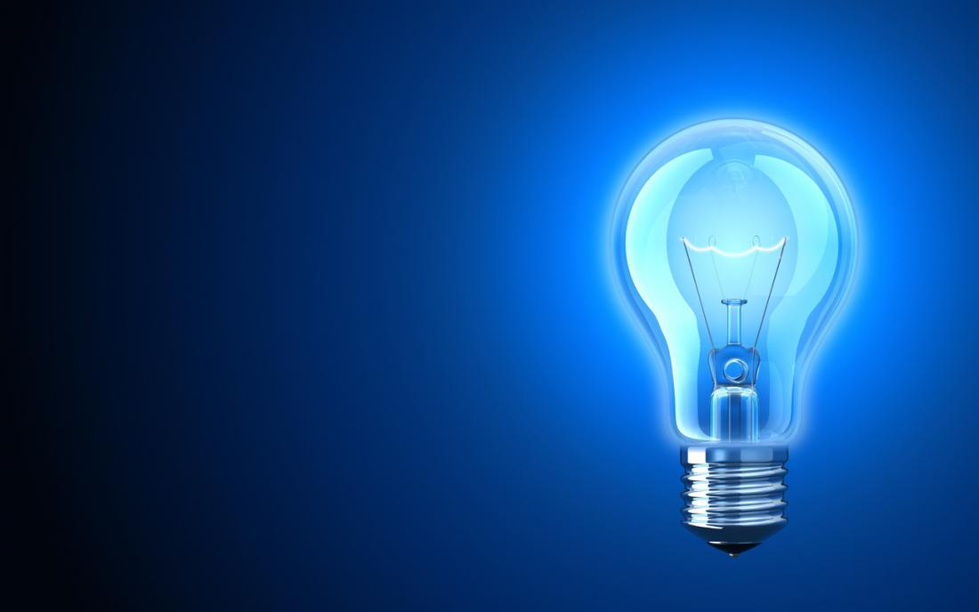 Lumière bleue bleue