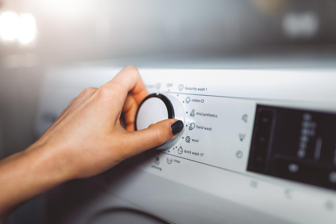Wäsche waschen wegen Räude in Menschen
