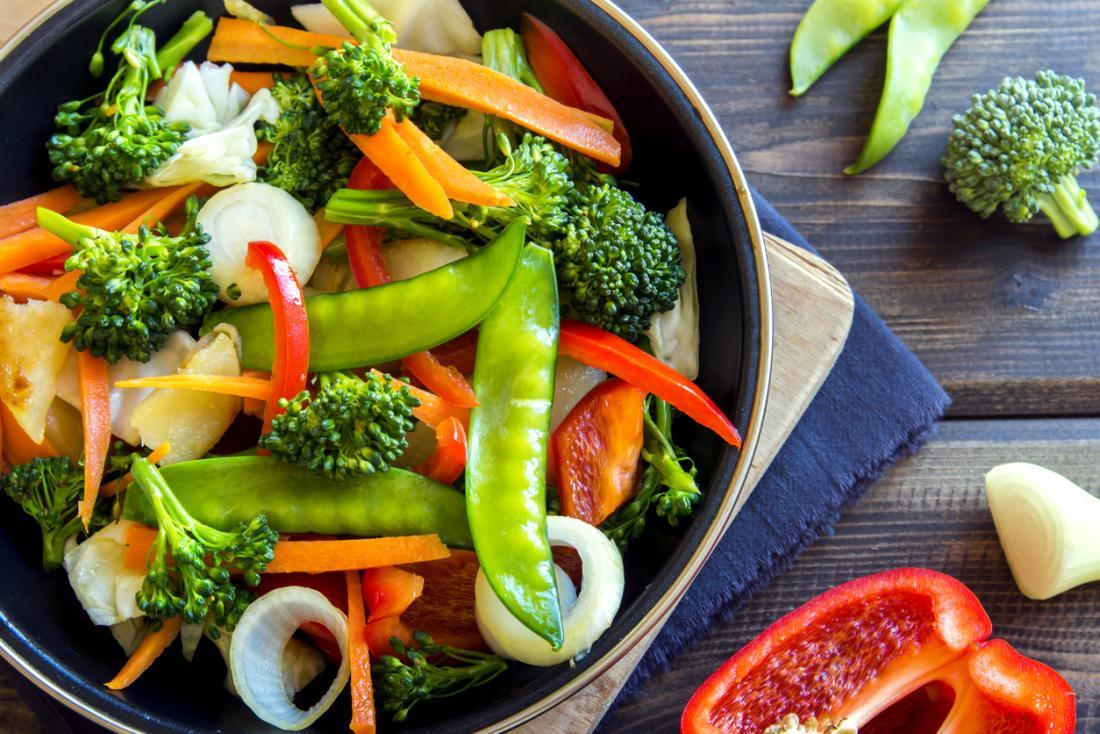Gemüse in einer Pfanne