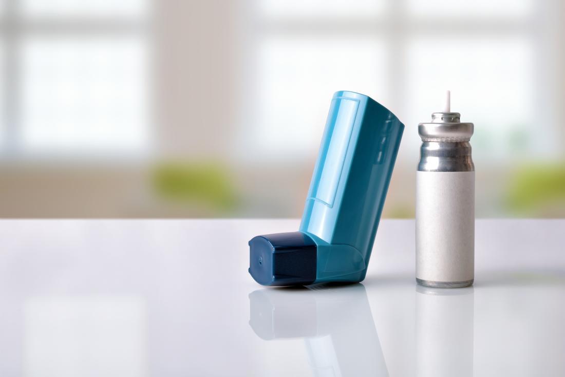 Astım inhaler ve son kullanma tarihi ile kartuş