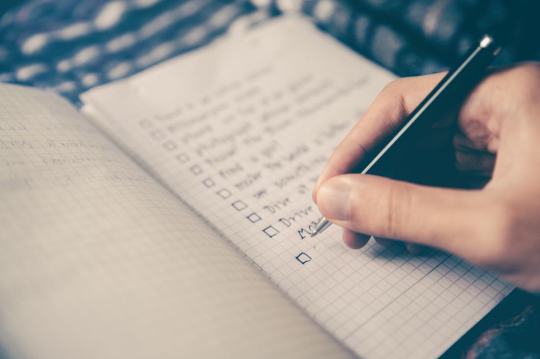 escrevendo uma lista de tarefas
