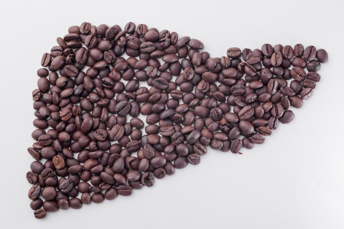 Il caffè ha la forma di un fegato
