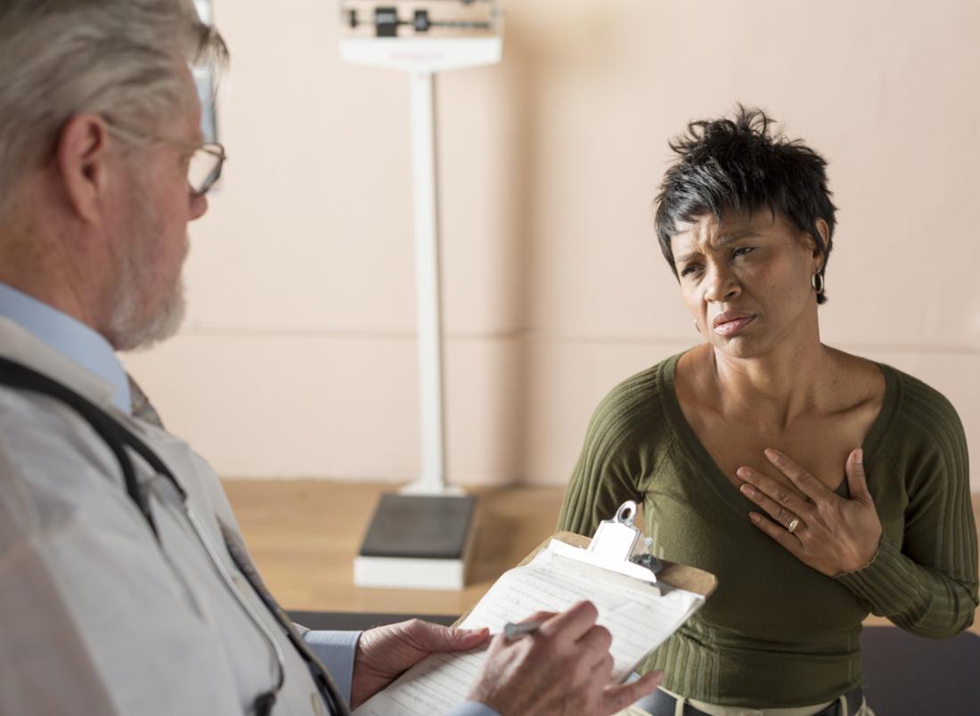 Symptome der Menopause.
