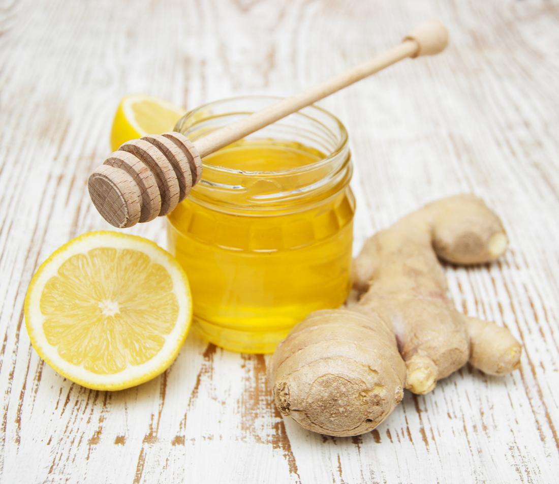 miodowa cytryna i świeży imbir