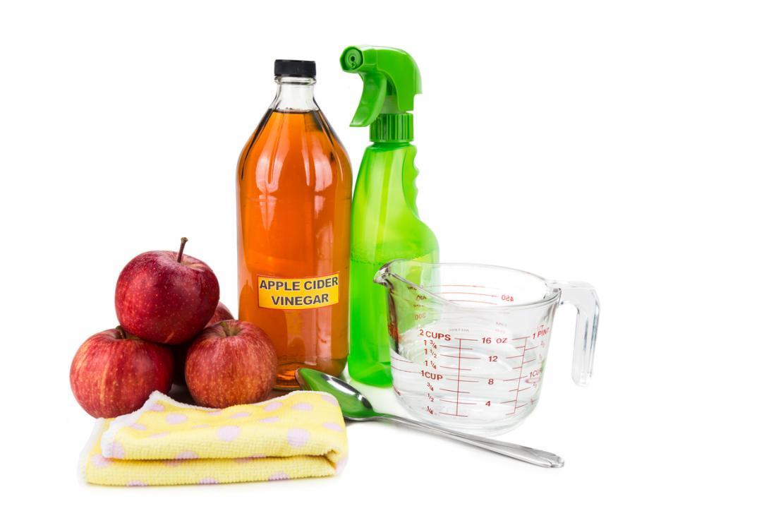 Apfelessig als Reinigungsmittel verwendet