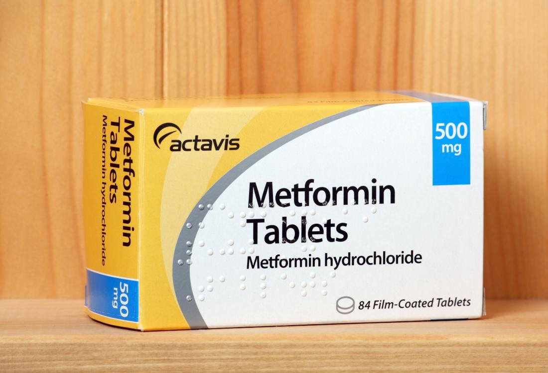 Confezione di compresse di metformina.