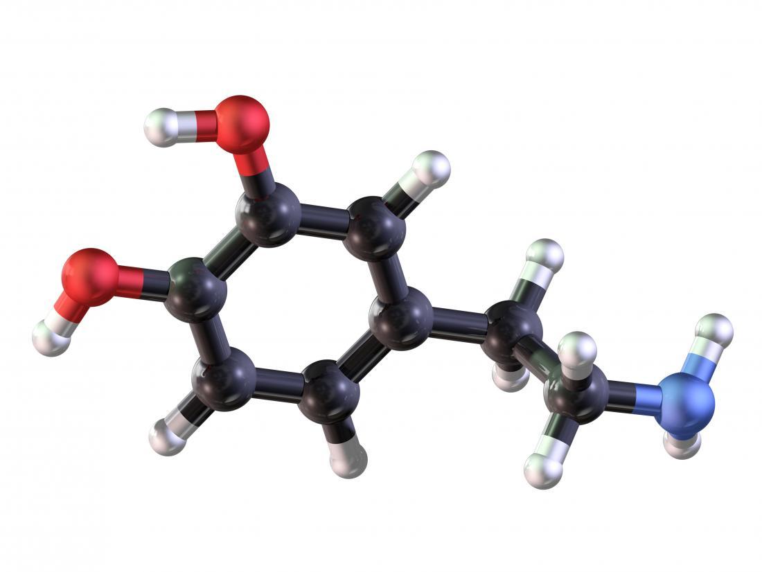 Dopamine modello 3D rendering.