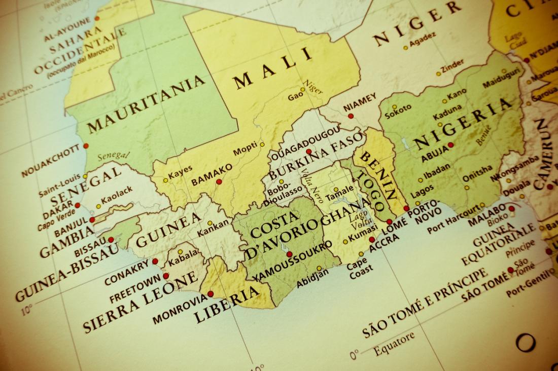 Eine Karte von Westafrika