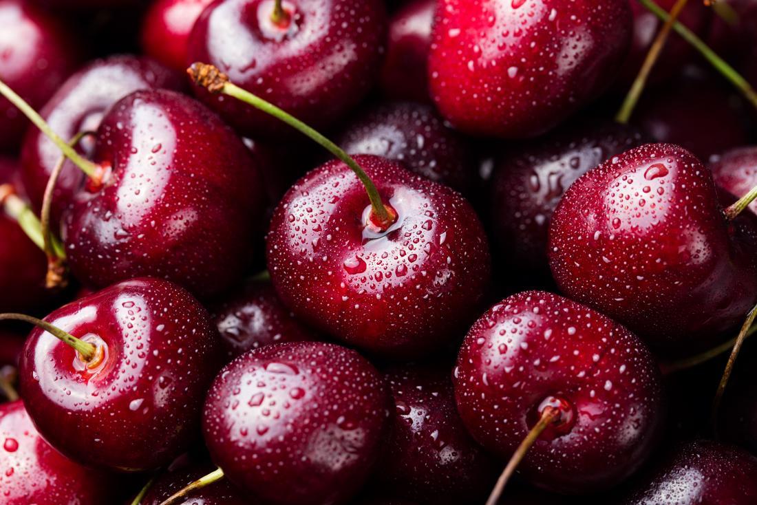 Zamknij się z wiśni, które mogą pomóc w diecie wyprysk