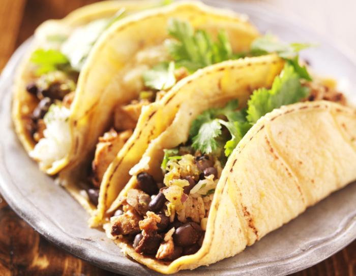tacos aux haricots noirs