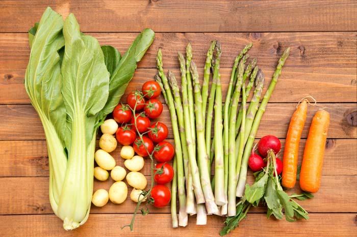 Uma seleção de legumes