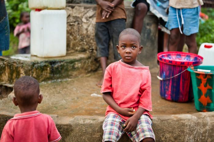[Kind in Westafrika]