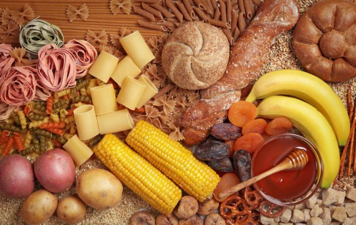 [Carb rich foods]
