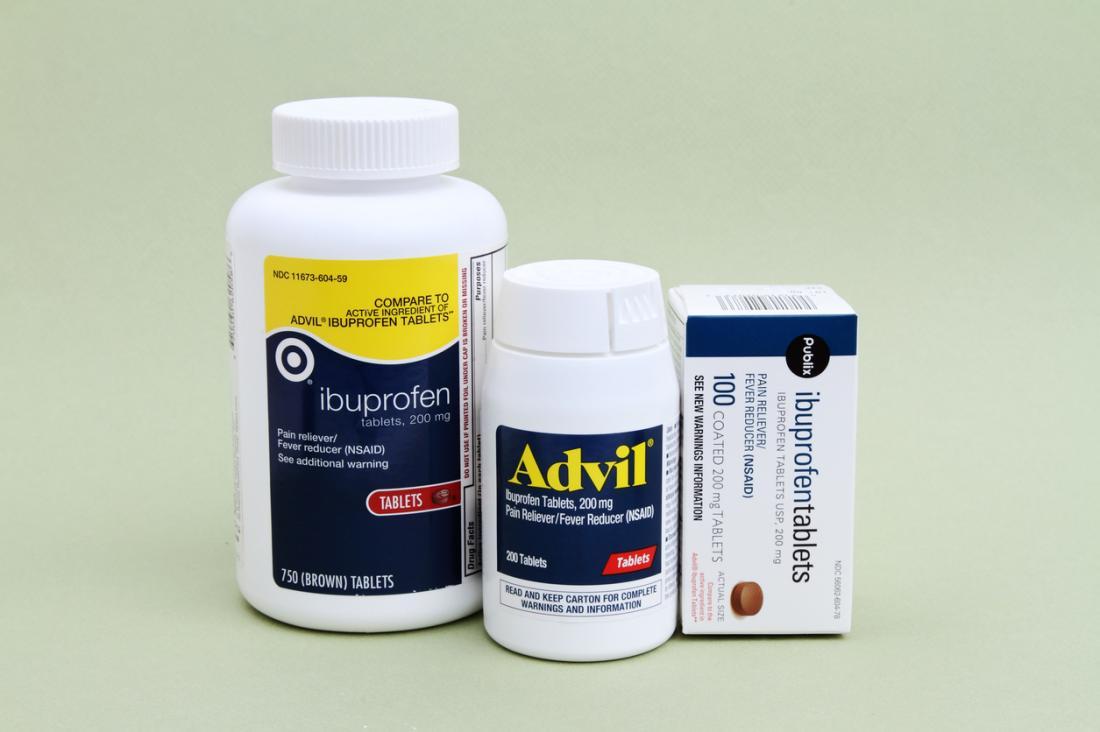 Ibuprofène, Advil et autres AINS
