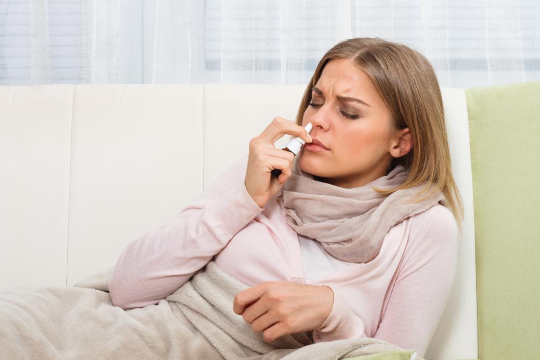 鼻スプレーは症状を緩和することがあります。