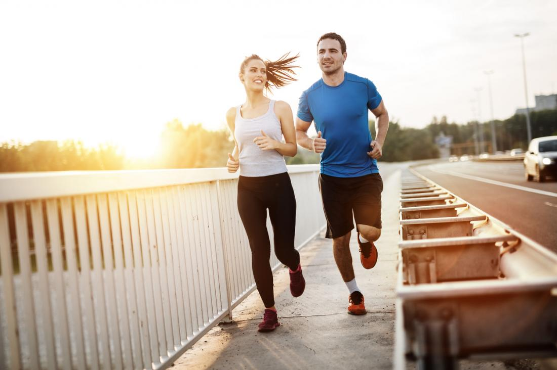 couple jogging
