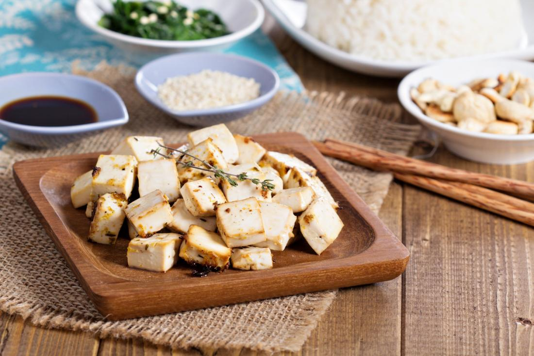 danie z grillowanego tofu