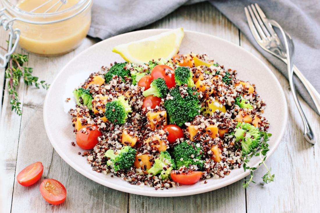 Salade de quinoa.