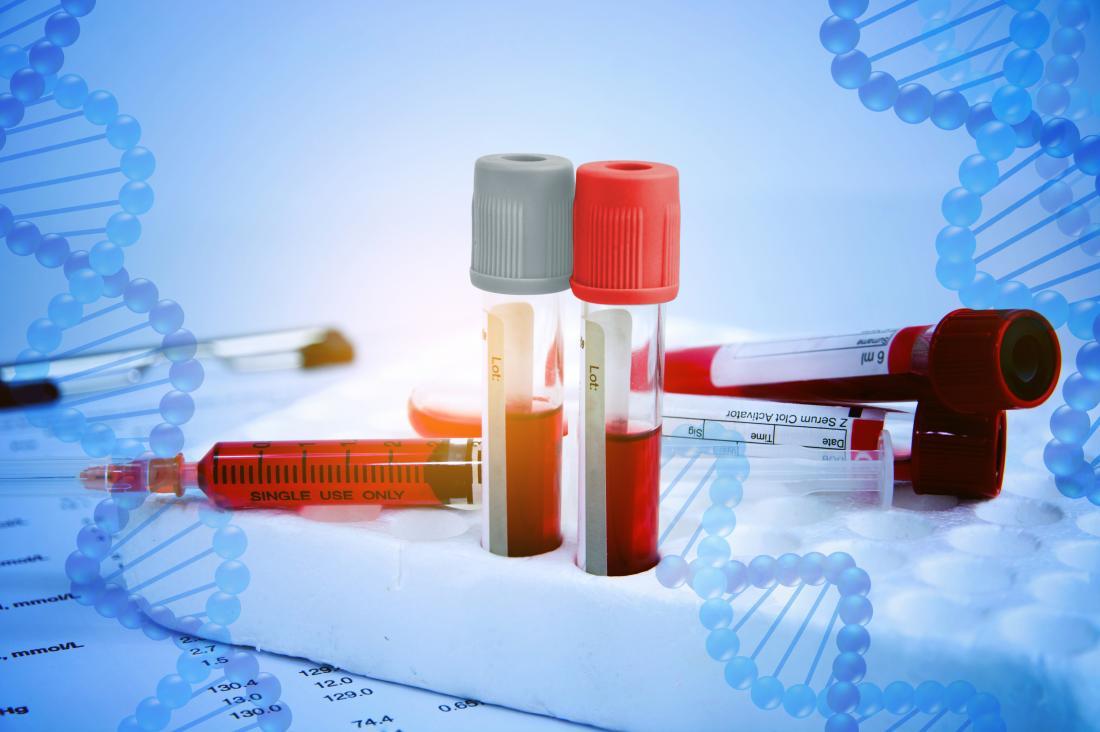 échantillons de sang et ADN
