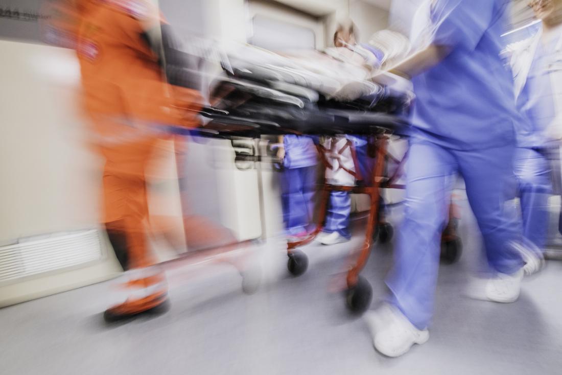 Patient wird durch A & E gehetzt