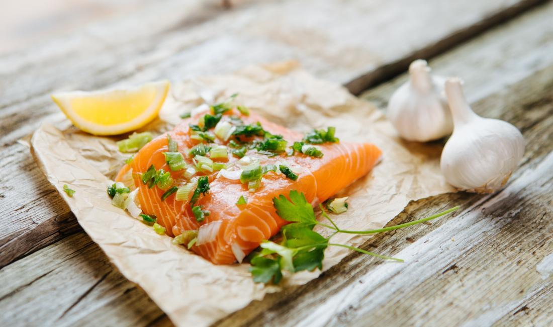 Gain de poids aliments saumon