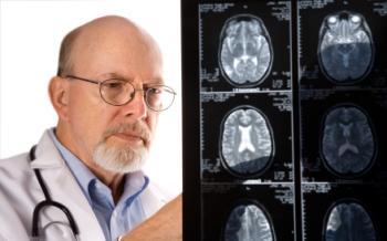 docteur, regarder, IRM, scans