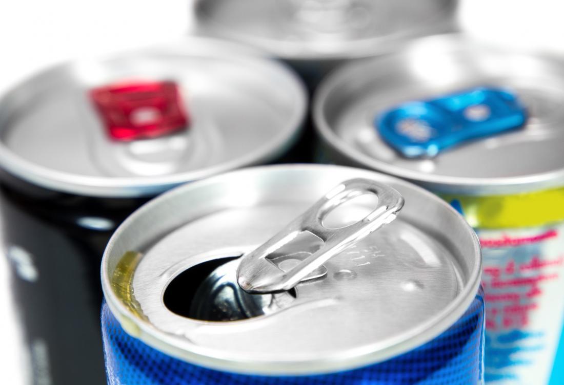 Latas de bebidas energéticas
