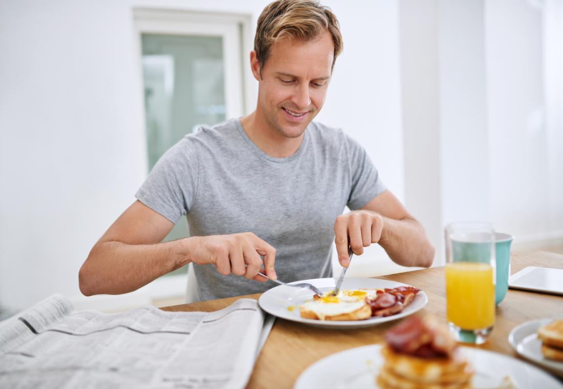 大きな朝食