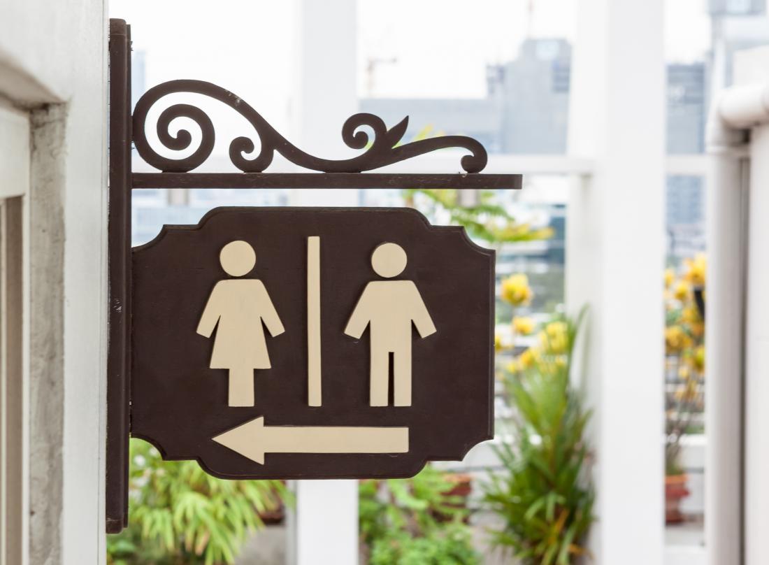 Dấu hiệu nhà vệ sinh nam và nữ. bạn nên đi tiểu bao nhiêu lần