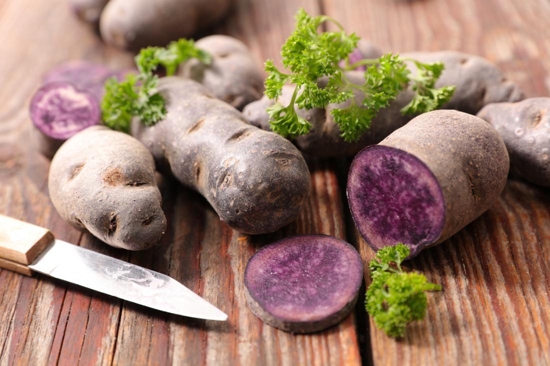 lila Kartoffeln