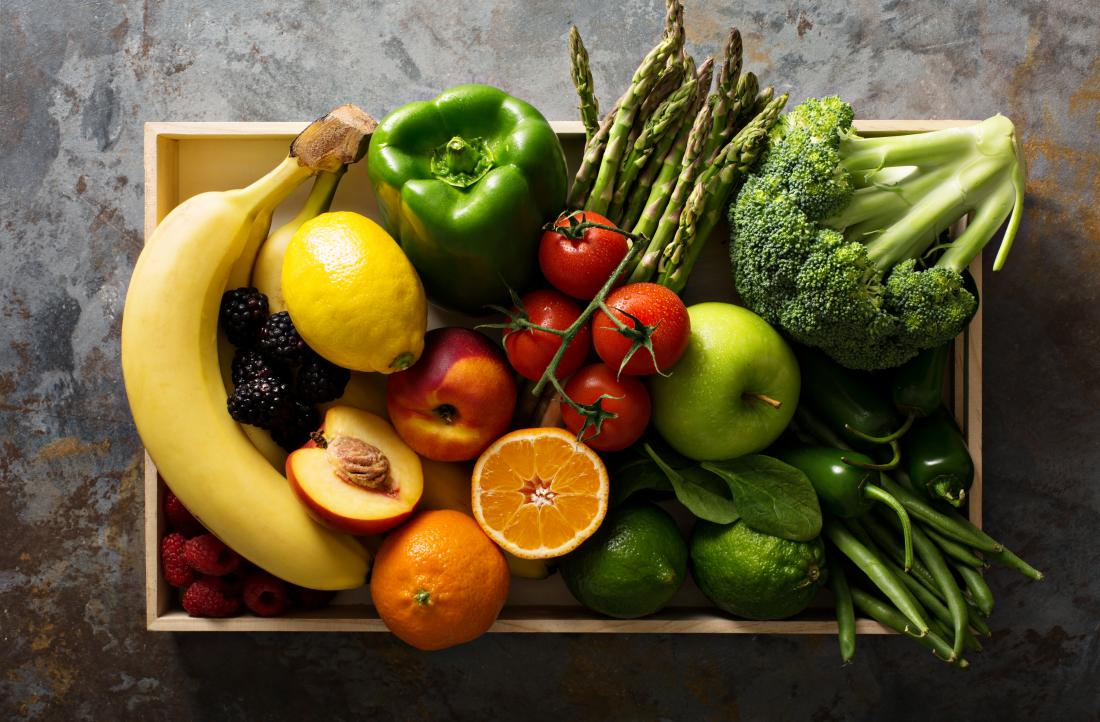 hộp trái cây và rau quả