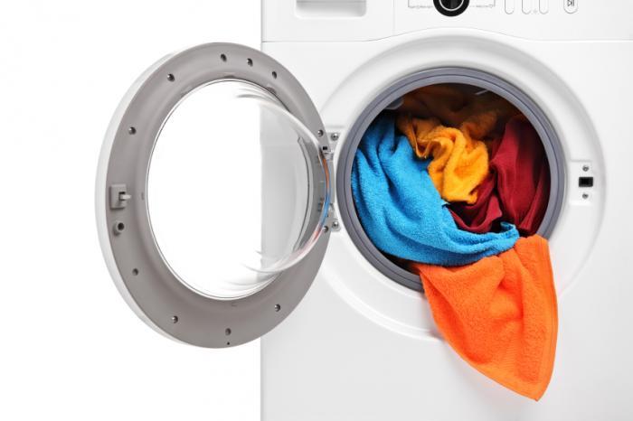 close up da máquina de lavar roupa
