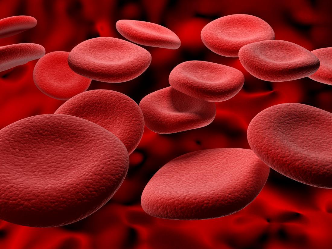 ヘモグロビンレベルを上昇させる方法を表す赤血球。