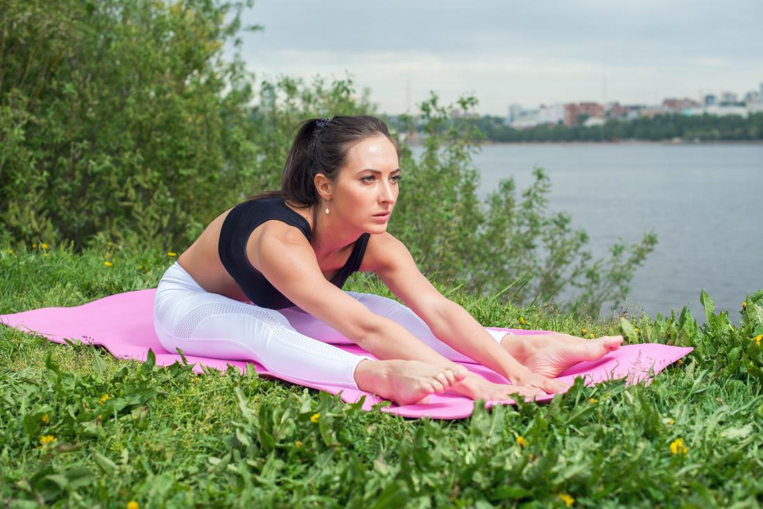 Siedzisko do przodu krotnie jogi