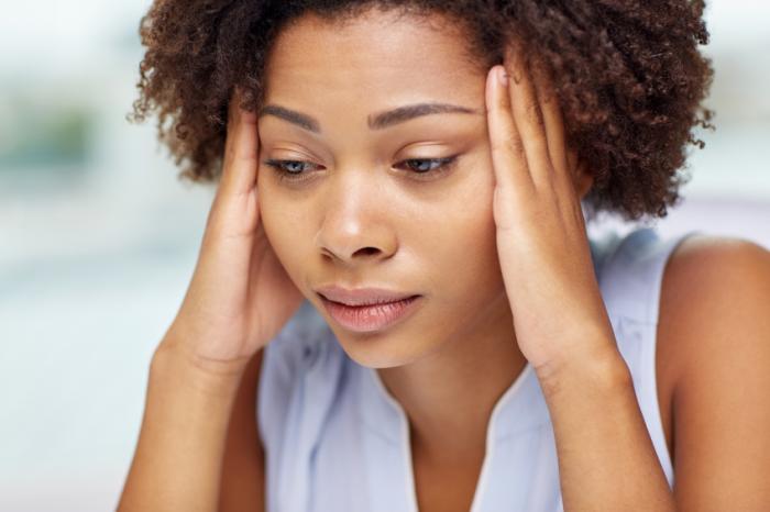 Một phụ nữ căng thẳng