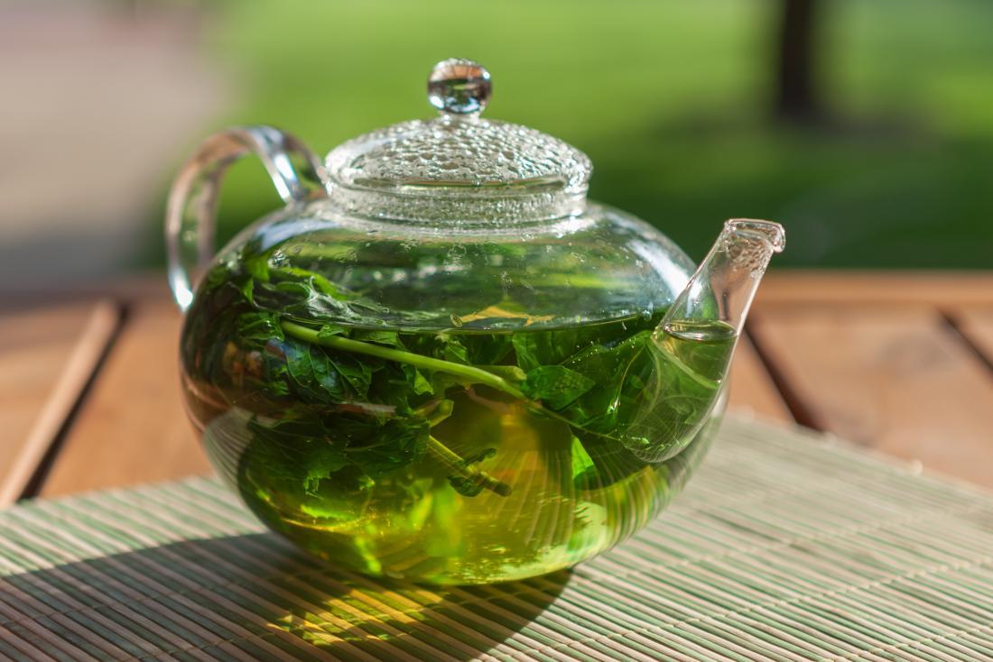 Thé à la menthe poivrée