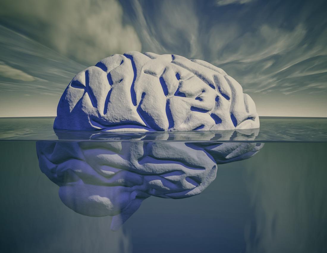 untergetauchtes Gehirnkunstkonzept