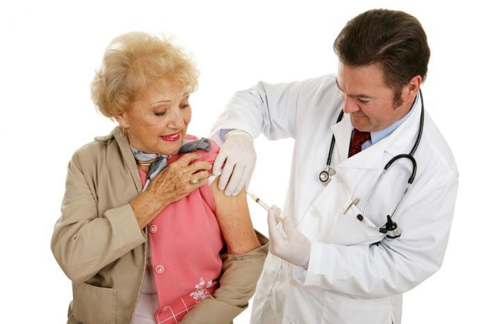 Mulher, tendo, vacina
