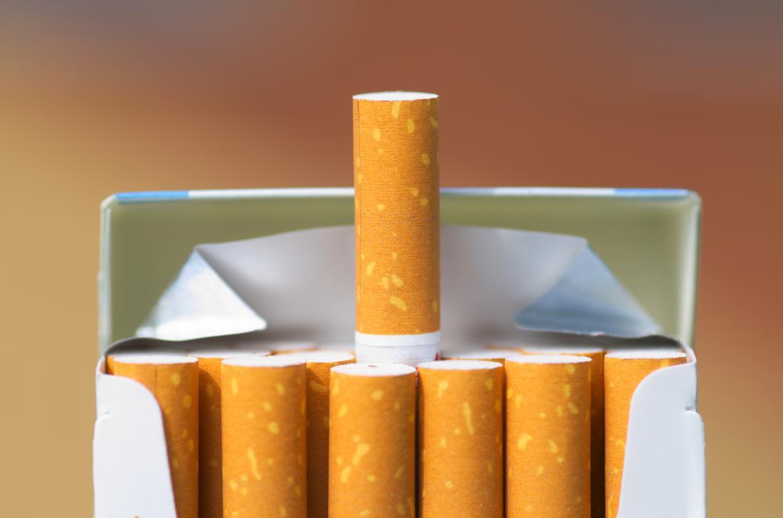 Zigaretten in einem Paket